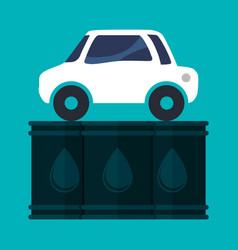 Car vehicle oil barrel vector