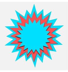 cartoon bubble paper cut vector image