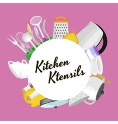 Cartoon kitchenware utensil collectionSteel vector image vector image
