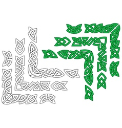 Celtic ornaments and patterns vector image