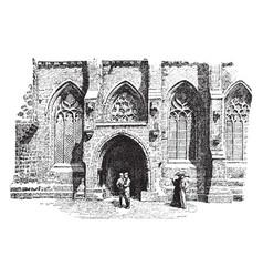 Chapel vintage vector