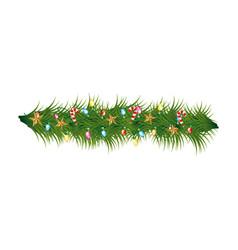 christmas wreath decoration icon vector image