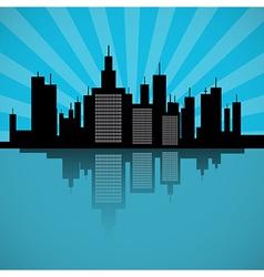 city scape vector image