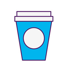 Coffee plastic cup icon vector
