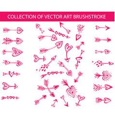collection art brushstroke in shape vector image
