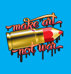 color pencil bullet vector image