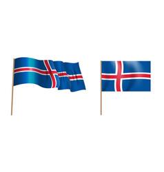 colorful naturalistic waving island flag vector image