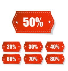 discount labels set with shadow on white vector image