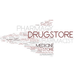 drugstore word cloud concept vector image