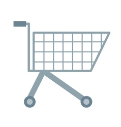 Empty cart vector image