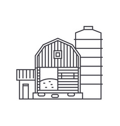 farm thin line icon concept farm linear vector image