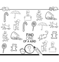 find one picture of a kind coloring book vector image