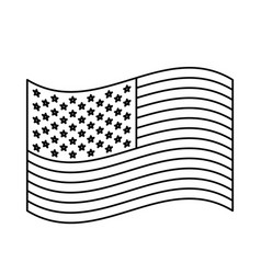 flag united states of america waving design vector image