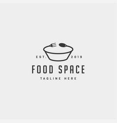 Food logo design icon element file vector