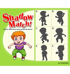 Game template with shadow matching boy vector