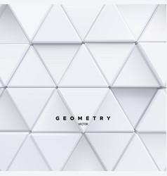 geometric background white triangle mosaic vector image