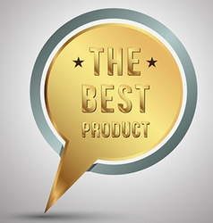 gold speech the best product vector image