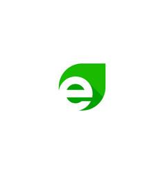 Green letter e logo icon design vector