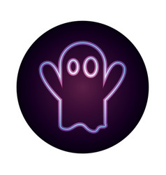 happy halloween character creepy ghost trick or vector image