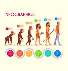 human evolution infographics time line transform vector image