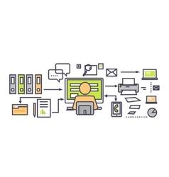 Icon Flat Design Deadline Concept vector image