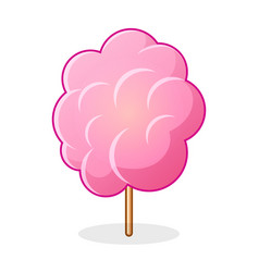 Icon of cotton candy sugar cloud on stick vector