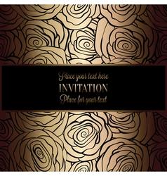 Invitation decorative golds 39 vector