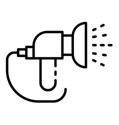 Jet hose irrigation icon outline style vector