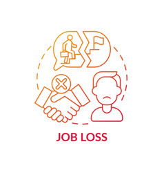 Job loss concept icon vector