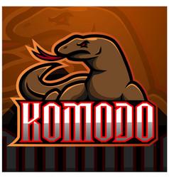 komodo esport mascot logo design vector image
