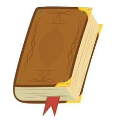 Leather magic book vector