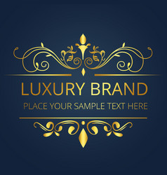 luxury brand gold vintage design image vector image