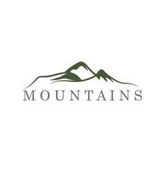 mountains abstract vector image