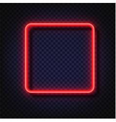Neon light square banner light frame vector