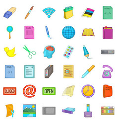 Organization icons set cartoon style vector