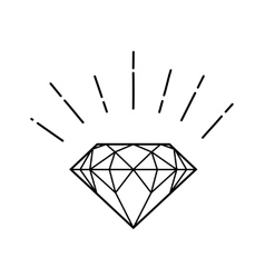 Outline hipster diamond vector