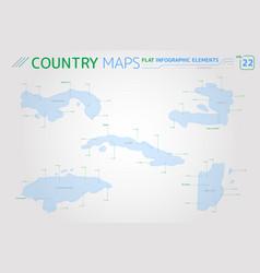 panama cuba haiti honduras and belize vector image