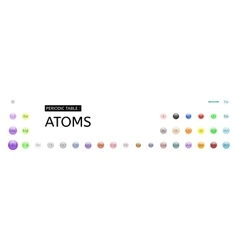 Periodic table atoms set vector image