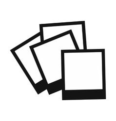 Photo frames icon vector