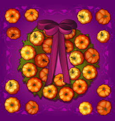poster or postcard style halloween holiday round vector image