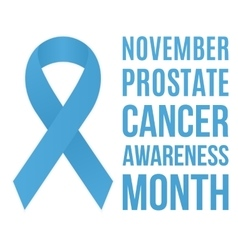 Prostate cancer awarness vector