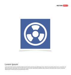 Radiation fan - blue photo frame vector