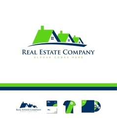 Real estate house company logo icon home vector