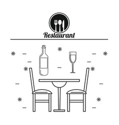 Restaurant and food concept vector