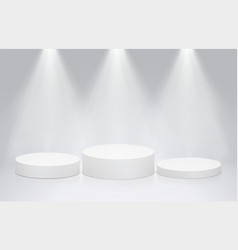 round stage podium pedestal with bright lighting vector image