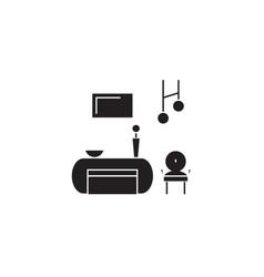 salon room black concept icon salon room vector image