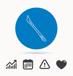 Scalpel icon surgeon tool sign vector