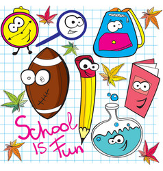 school is fun vector image