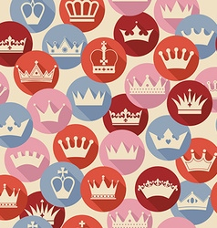 Seamless abctract crowns pattern vector