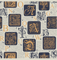 Seamless pattern on theme old book pages vector